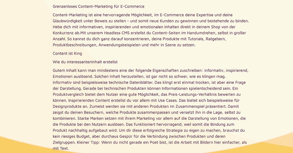 Content-Marketing Text-Formatierung